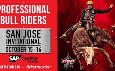 Three Gates attends the Professional Bull Riders event in San Jose, CA