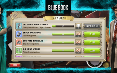 Project Blue Book quest system